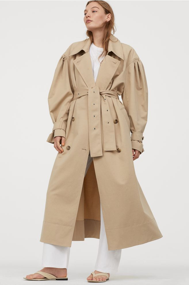 hm-puff-sleeved-trenchcoat