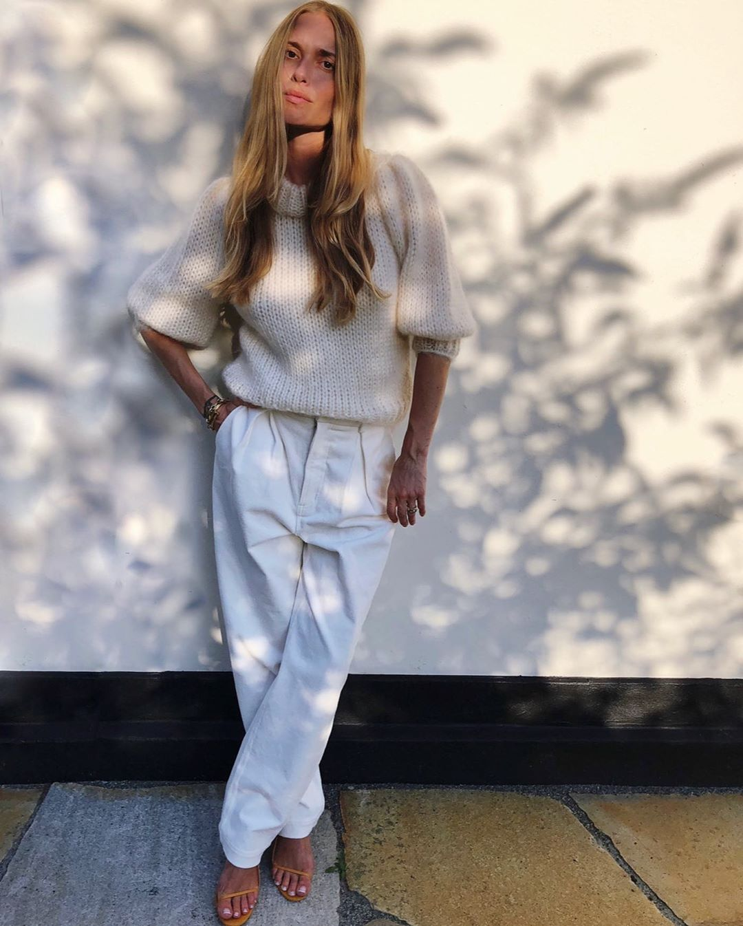 pernille-teisbaek-ganni-chino-belt-pants-instagram
