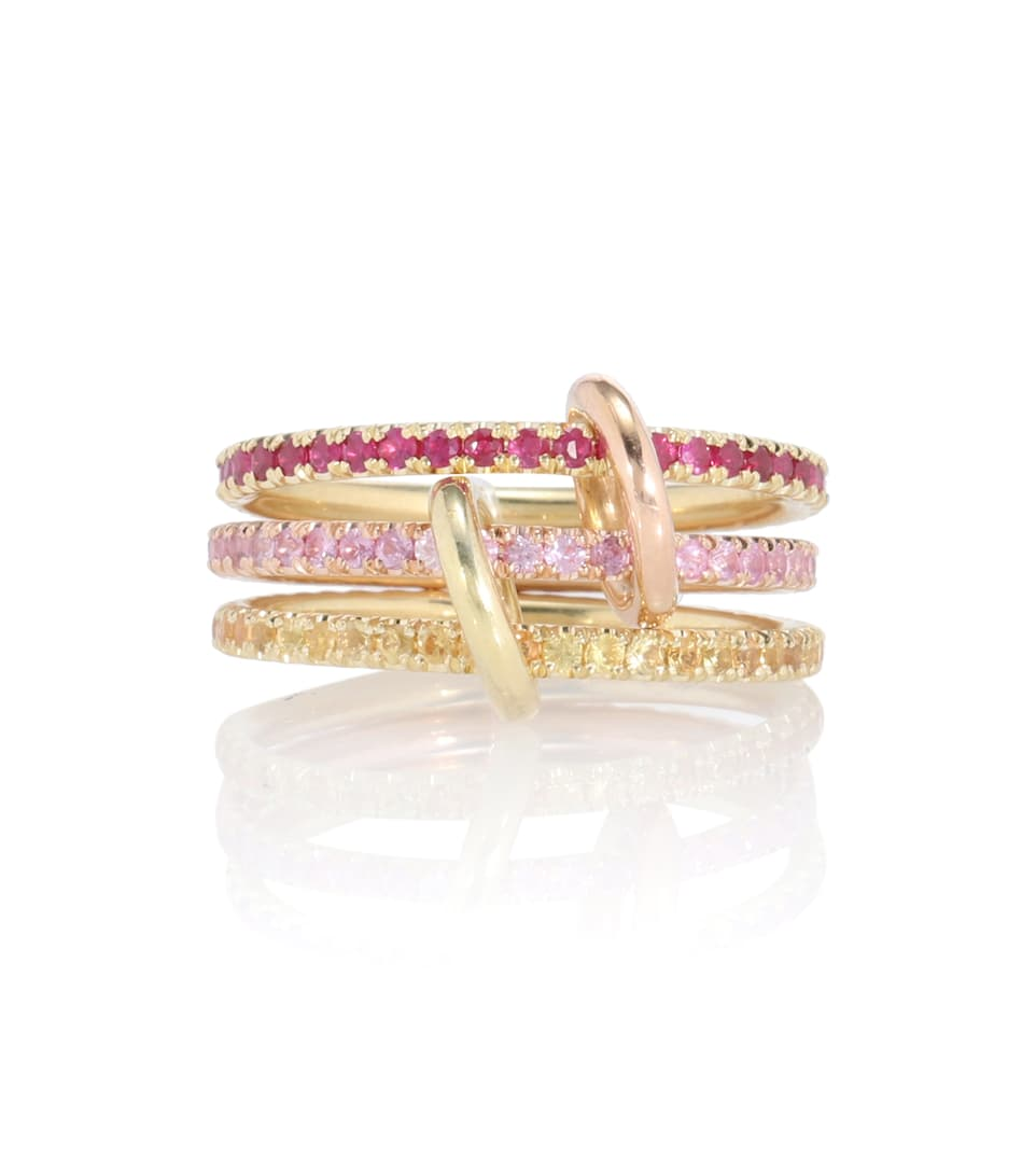 spinelli-kilcollin-aurora-mx-18kt-gold-linked-rings-with-rubies-and-sapphires
