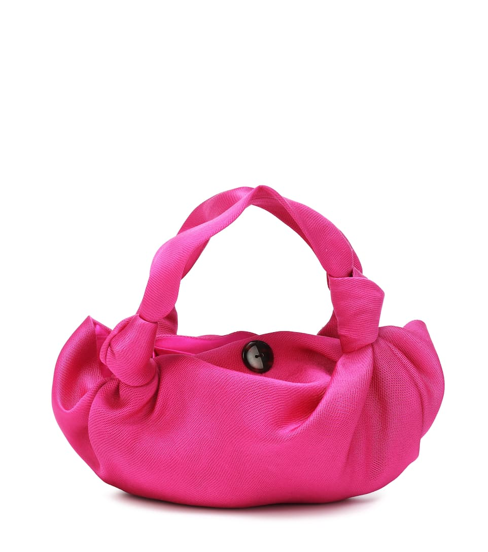 the -row-ascot-fuchsia-satin-mini-tote-bag