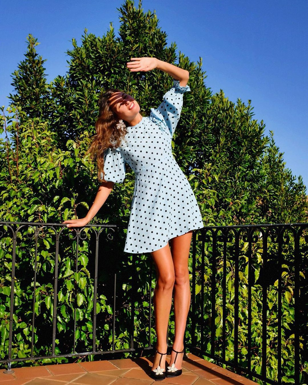 faithfull-the-brand-sky-blue-edwina-ruffled-polka-dot-crepe-mini-dress-sara-ramen-instagram