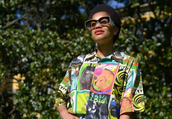 This psychedelic sweater will bring you pure joy on chilly summer days
