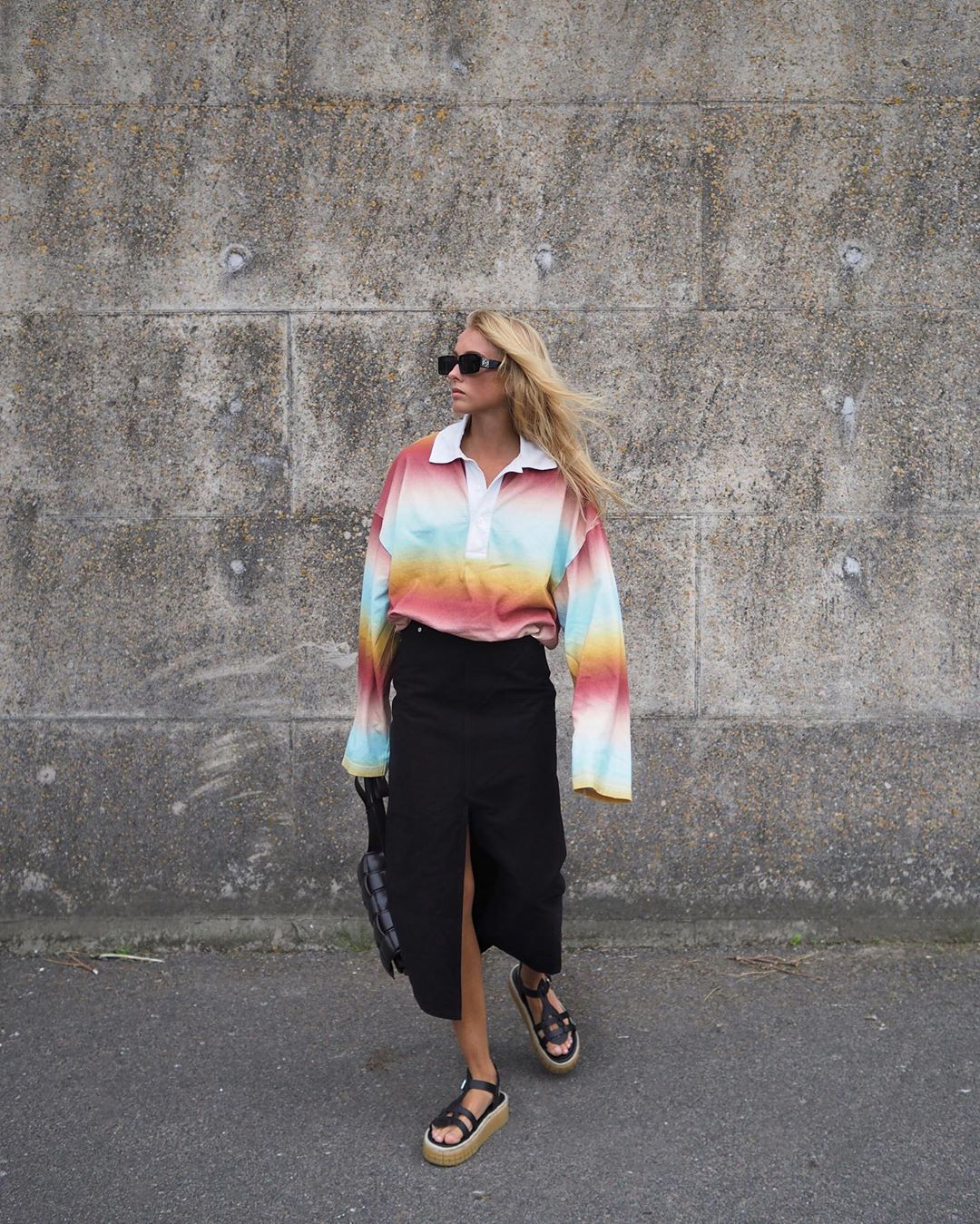 ellen-claesson-acne-studios-striped-polo-shirt-instagram
