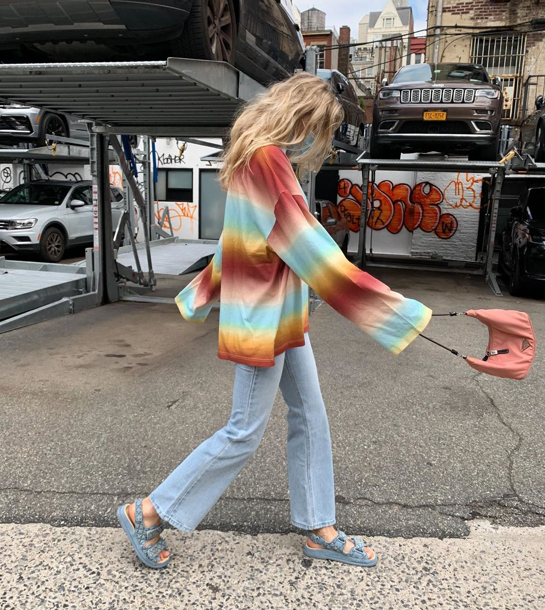 elsa-hosk-acne-studios-striped-polo-shirt-instagram
