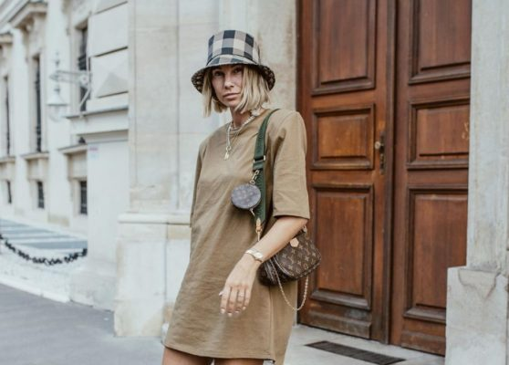 The padded shoulder dresses my favorite fashion influencers are wearing RN, and I'm trying this Autumn