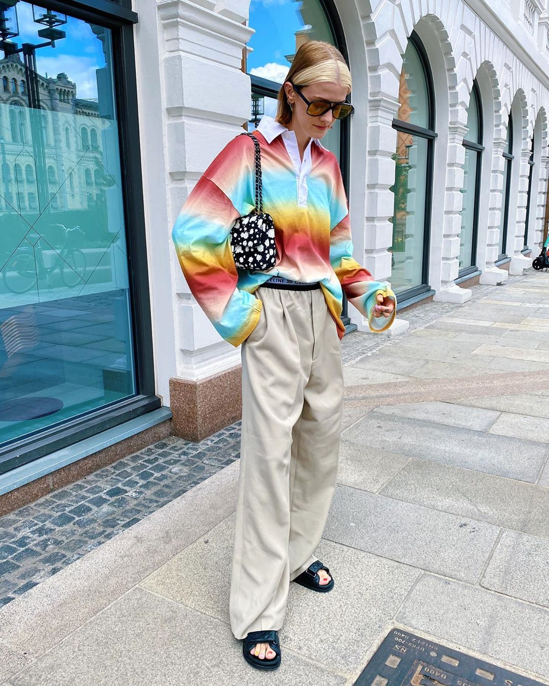 marianne-theodorsen-acne-studios-striped-polo-shirt-instagram