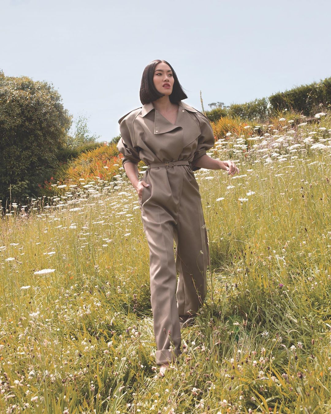 bottega-veneta-trench-inspired-jumpsuit-tiffany-hsu-instagram