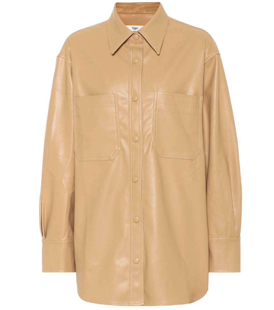 frankie-shop-yoyo-faux-leather-shirt-honey