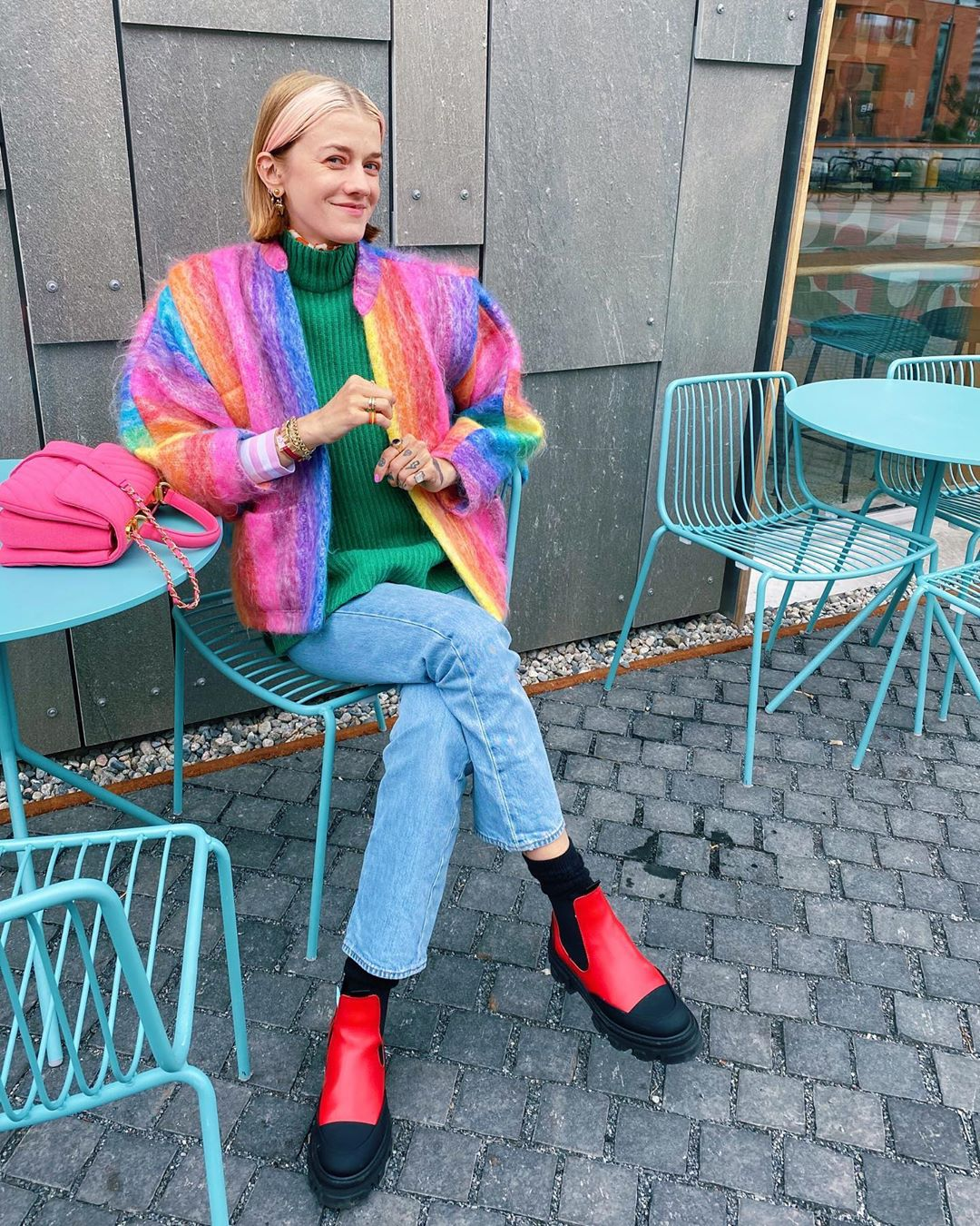 ganni-red-leather-rubber-chelsea-boots-marianne-theodorsen-instagram