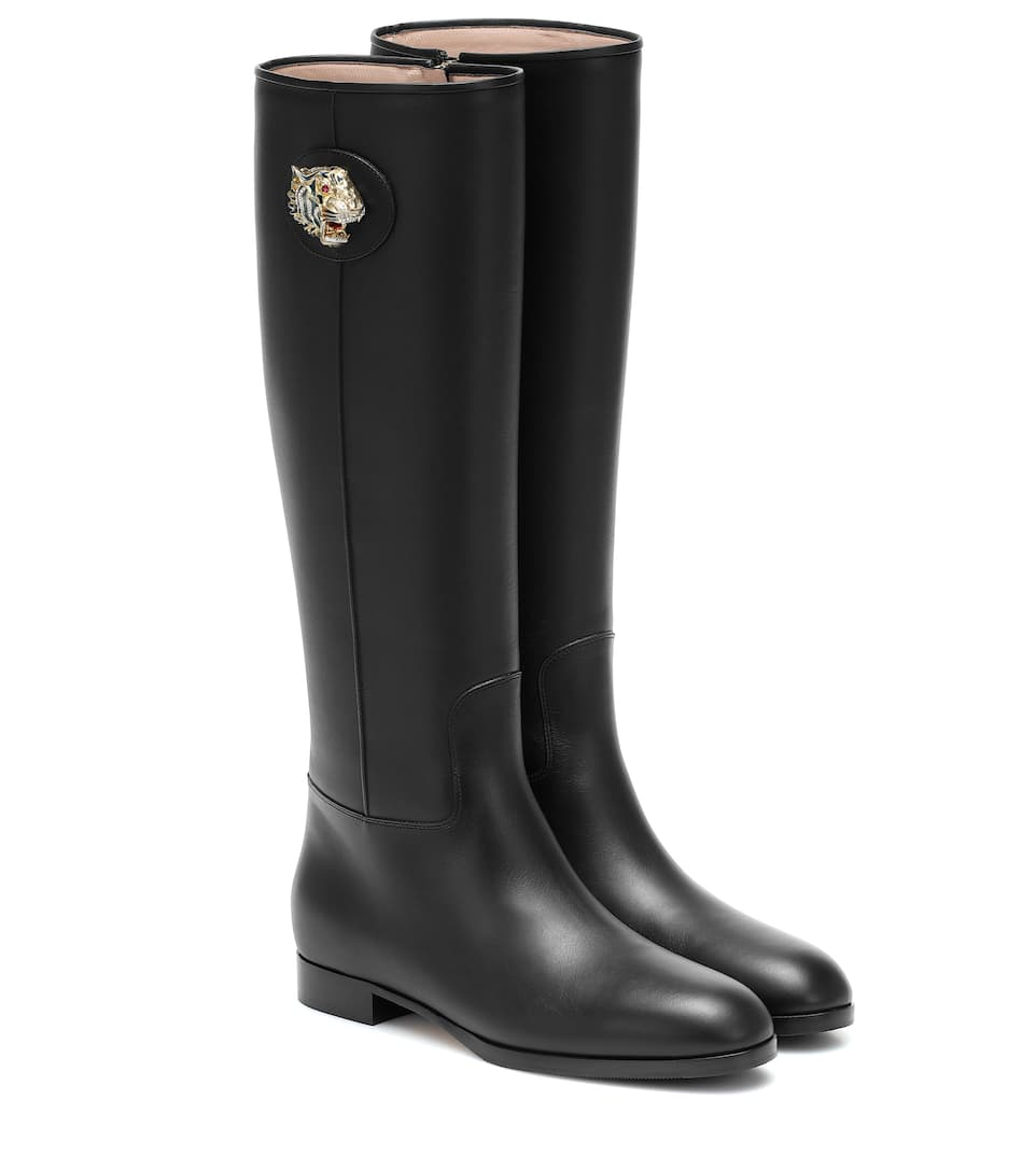 gucci-leather-knee-high-boots-black
