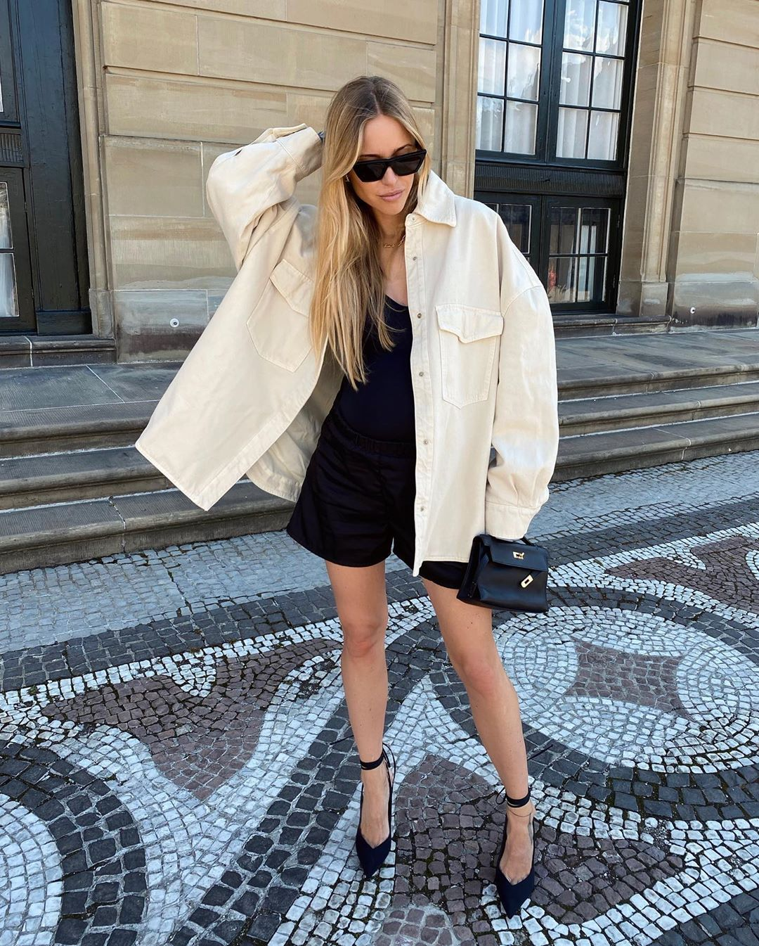 pernille-teisbaek-attico-lotta-oversized-denim-shirt-instagram