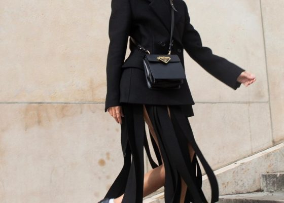 I'm not a midi skirt person, but this style in every fashion girl's fall uniform has changed my mind
