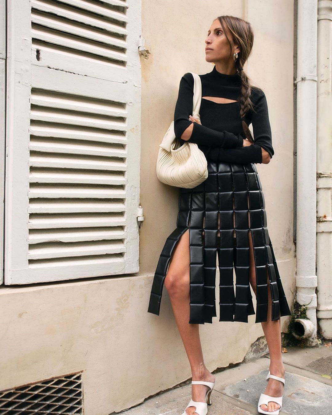 chloe-harrouche-a-w-a-k-e-quilted-faux-leather-midi-skirt-instagram