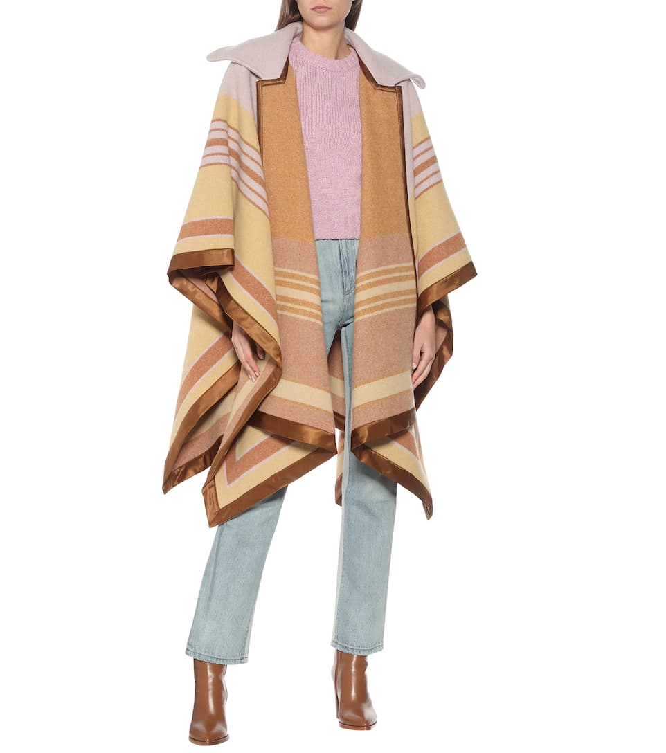 philosophy-di-lorenzo-serafini-striped-wool-blend-cape