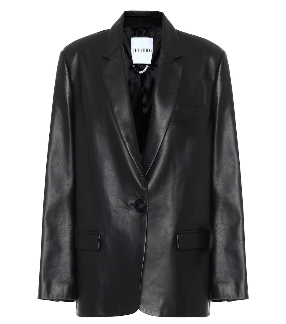 the-attico-bianca-leather-blazer