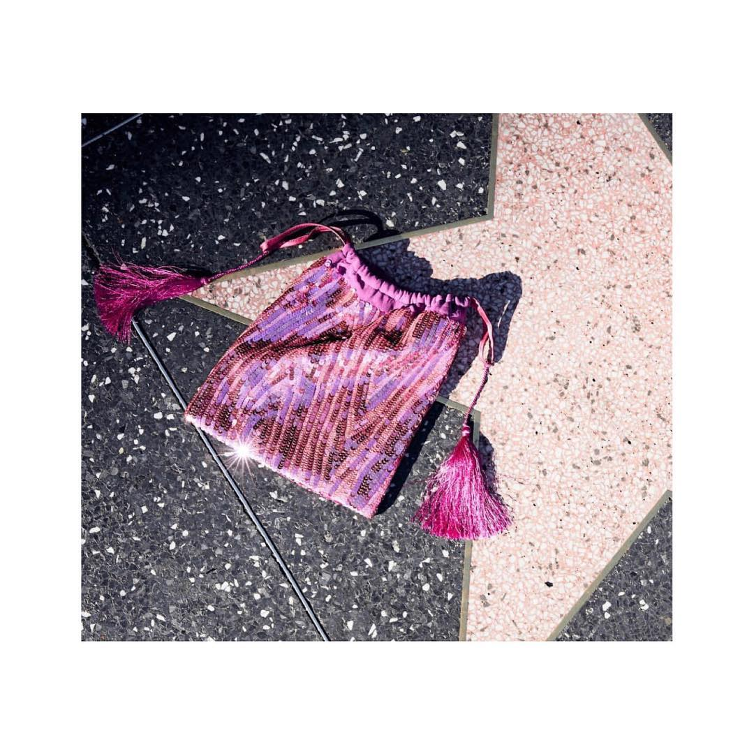 the-attico-pink-tasseled-sequined-chiffon-pouch-the-outnet-clearance