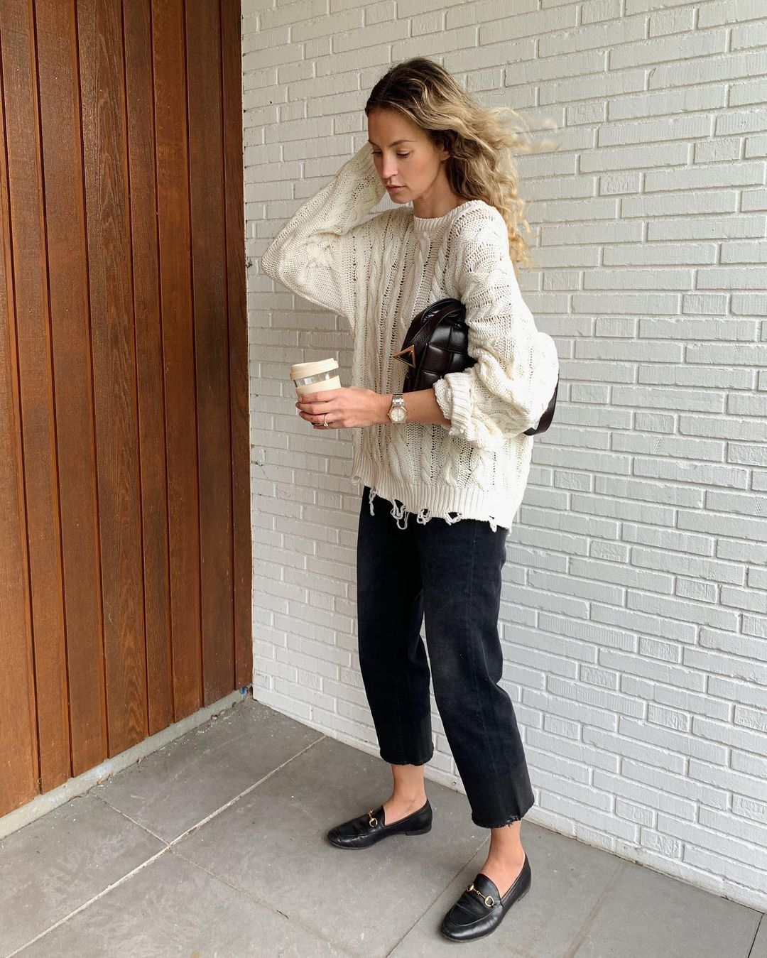 anouk-yve-gucci-jordaan-black-leather-loafer-instagram