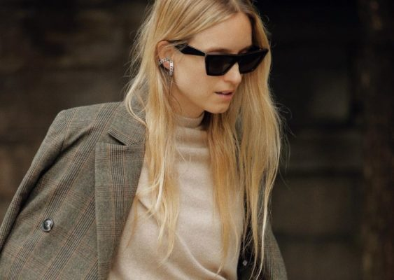 How to wear a checked suit this fall, according to fashion girls