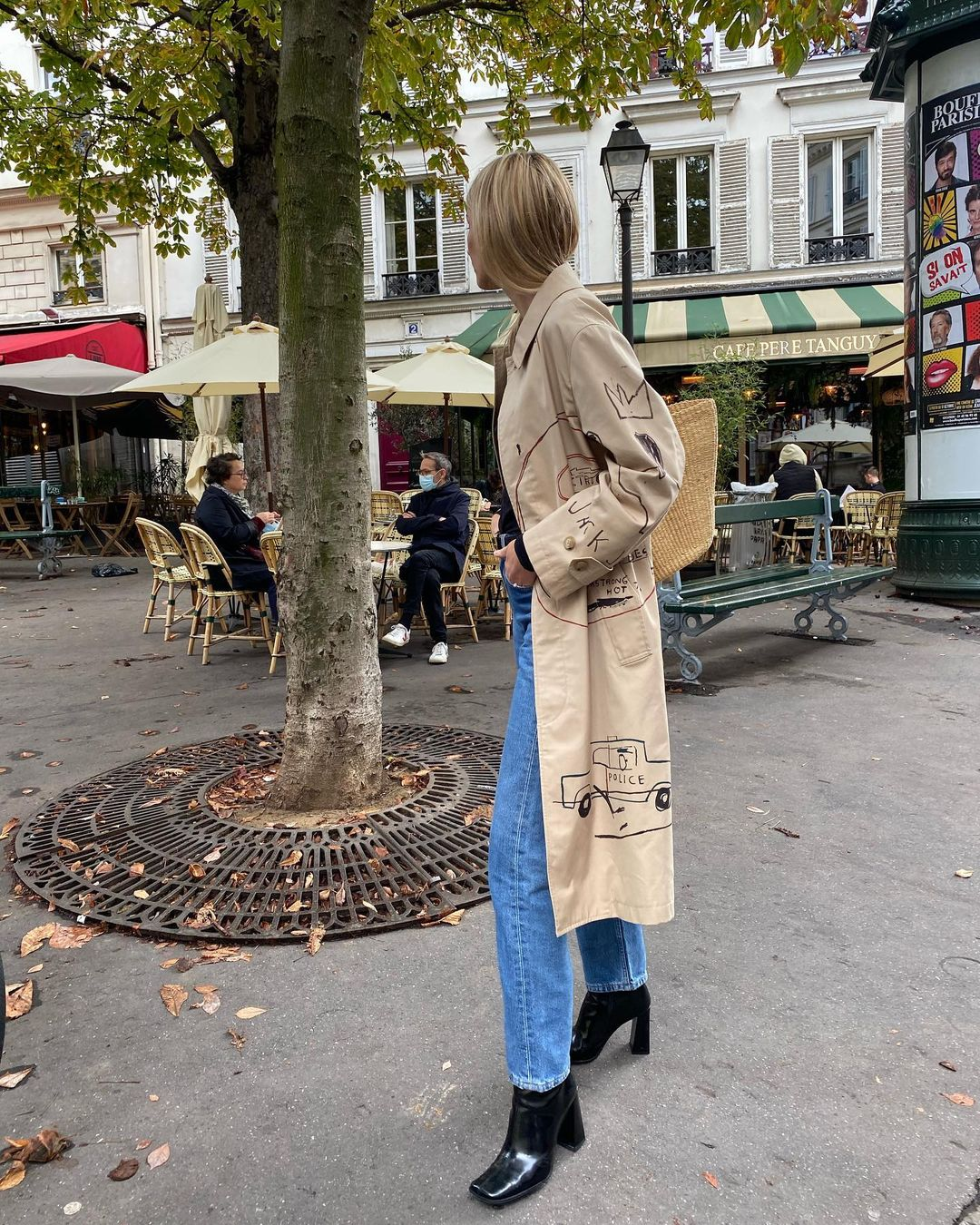 camille-charriere-coach-x-jean-michel-basquiat-coat-instagram