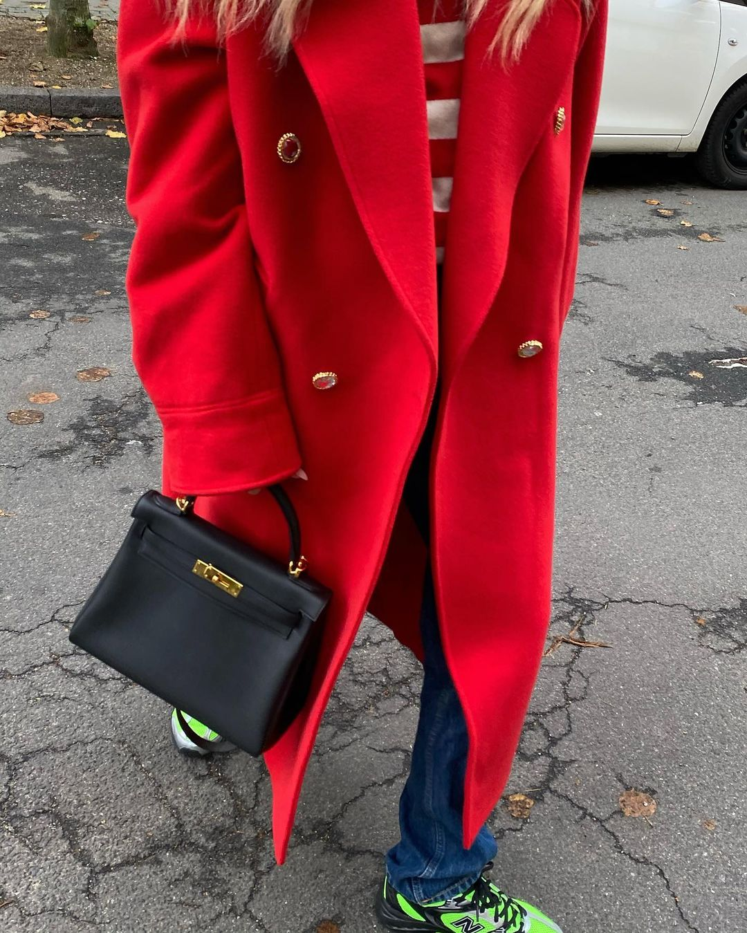 emili-sindlev-alessandra-rich-red-oversize-double-breasted-coat-instagram