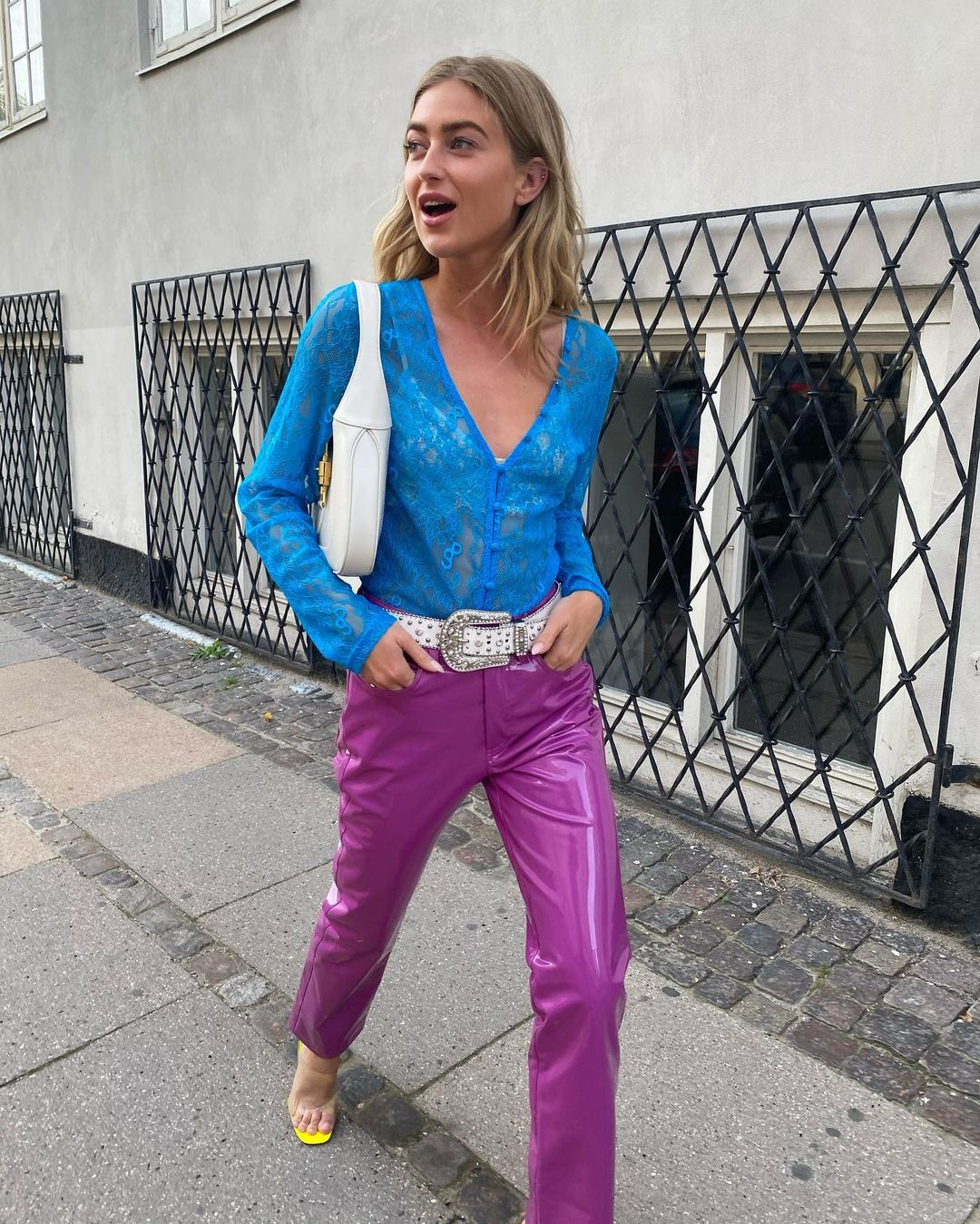 emili-sindlev-simon-miller-vegan-leather-straight-leg-pants-magenta-instagram