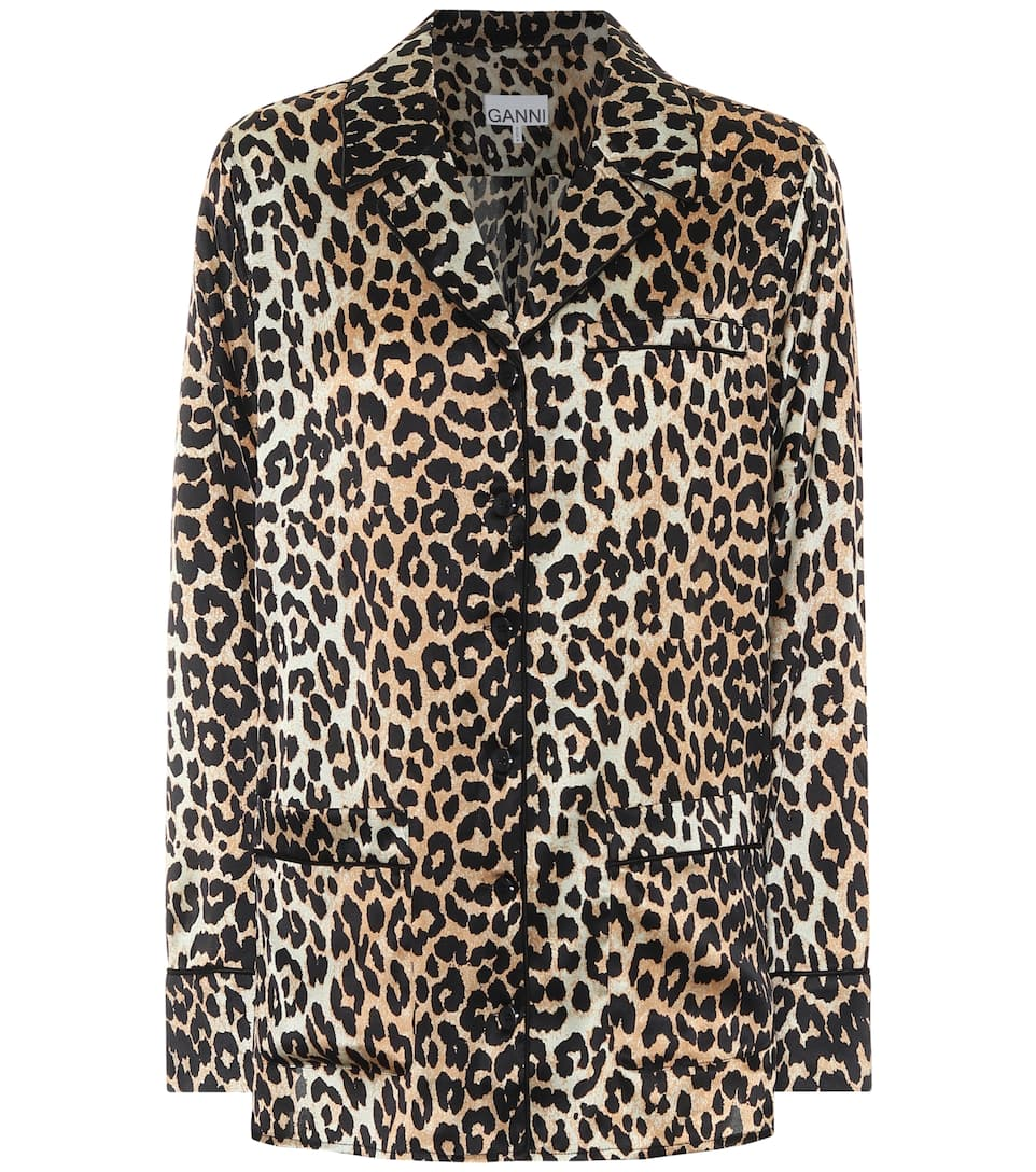 ganni-leopard-print-stretch-silk-satin-pajama-shirt