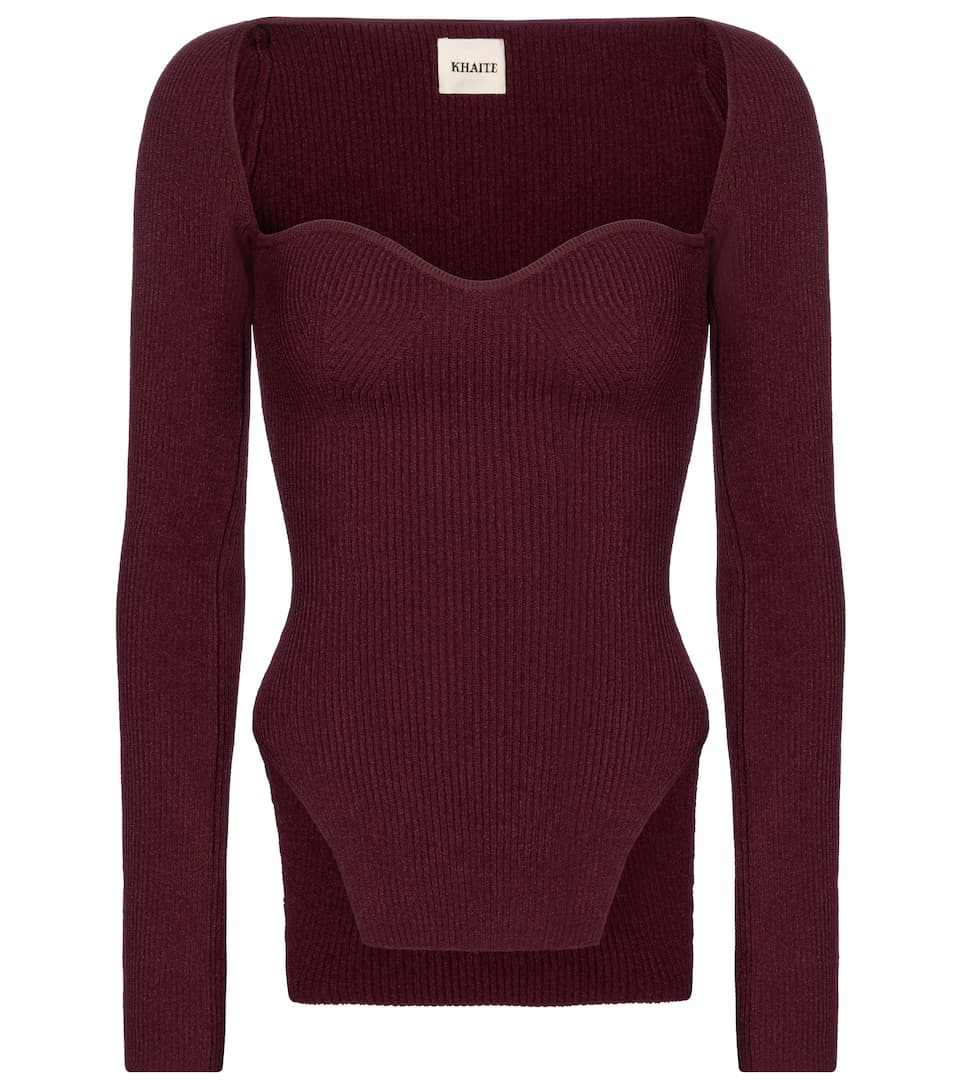 khaite-exclusive-to-mytheresa-maddy-ribbed-knit-top-oxblood