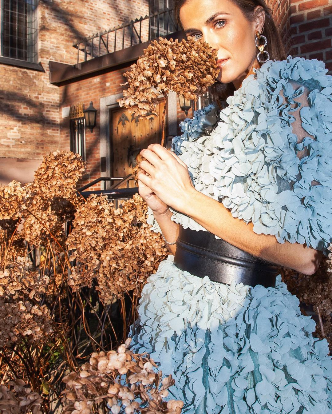 nina-sandbech-hm-conscious-exclusive-fabric-flower-covered-dress-instagram