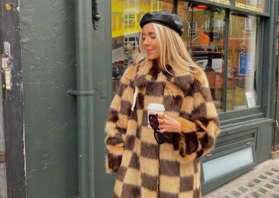The checked faux fur coat every fashion girl owns
