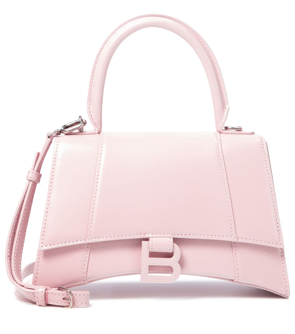 balenciaga-hourglass-small-leather-tote-light-rose