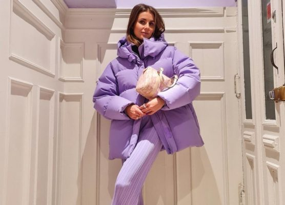 My favorite fashion girls can't get enough of this lavender down jacket