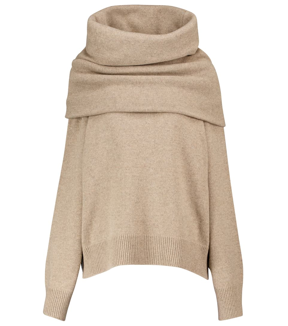 frankie-shop-oversized-cowl-sweater-in-sand-dune