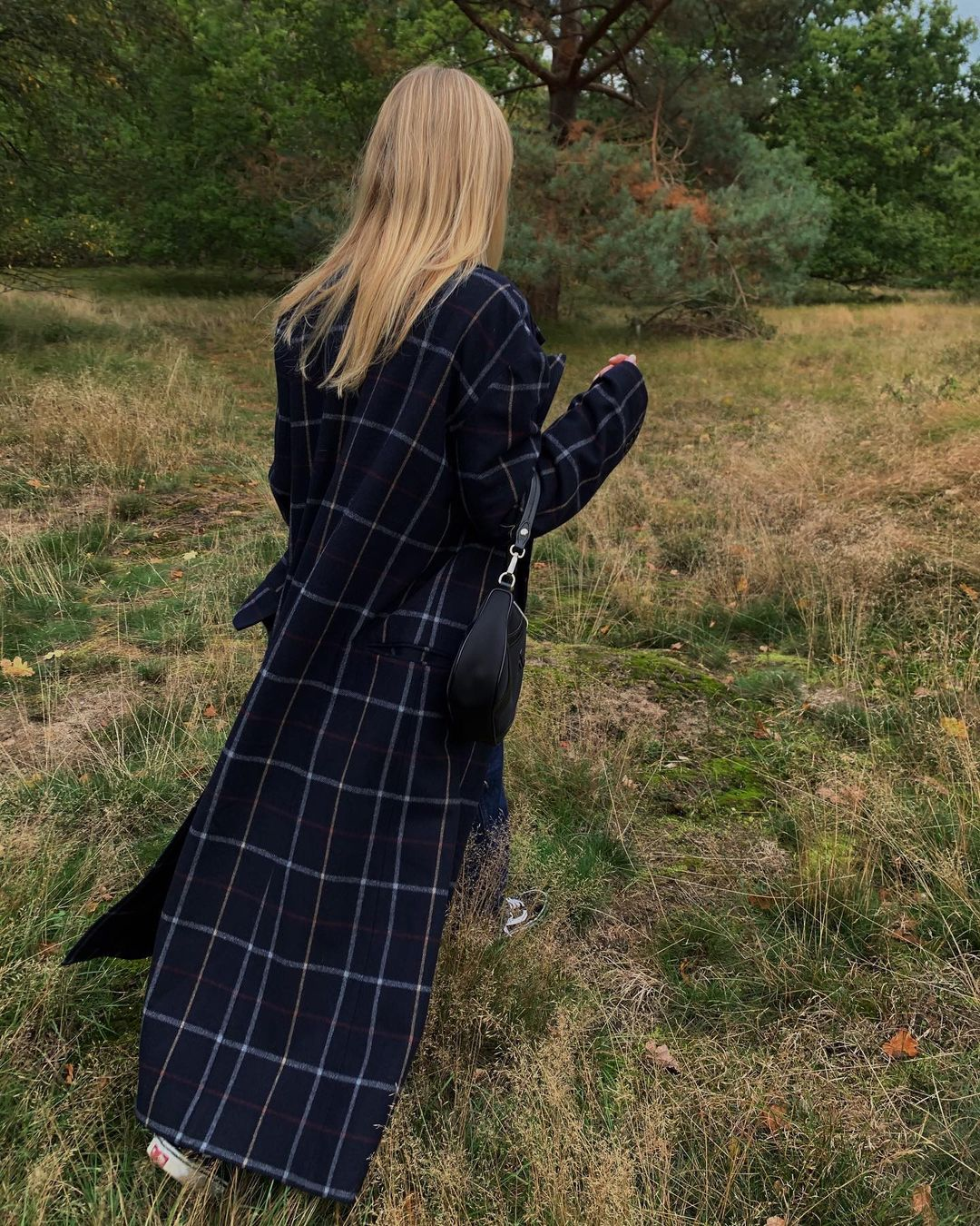 jeanette-madsen-awake-mode-double-breasted-checked-wool-blend-coat-instagram