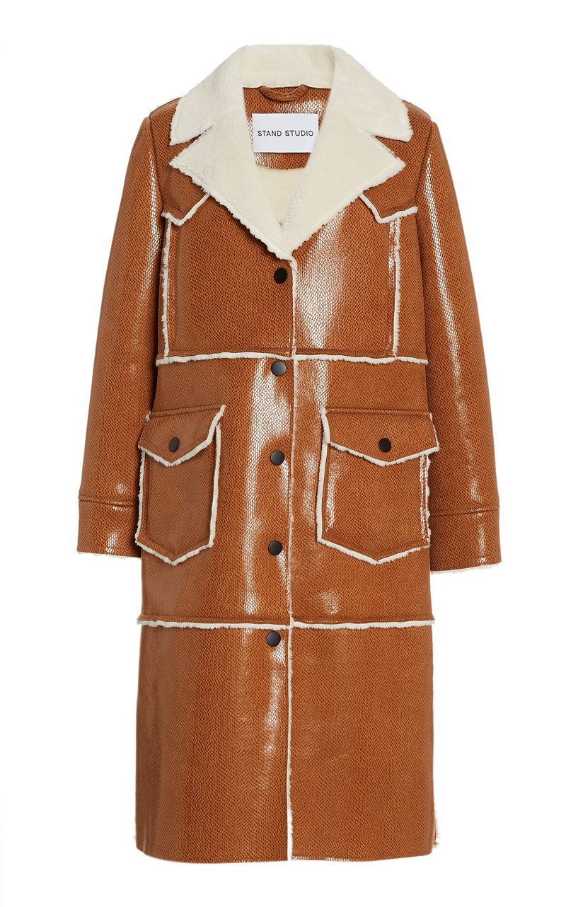 stand-studio-adele-faux-leather-faux-shearling-coat-brown