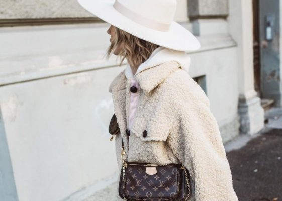 If you were to buy a shearling coat this year, make it white