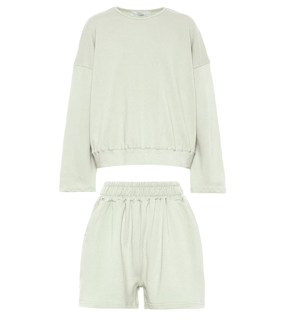 frankie-shop-jaimie-sweatshirt-and-shorts-set-mint