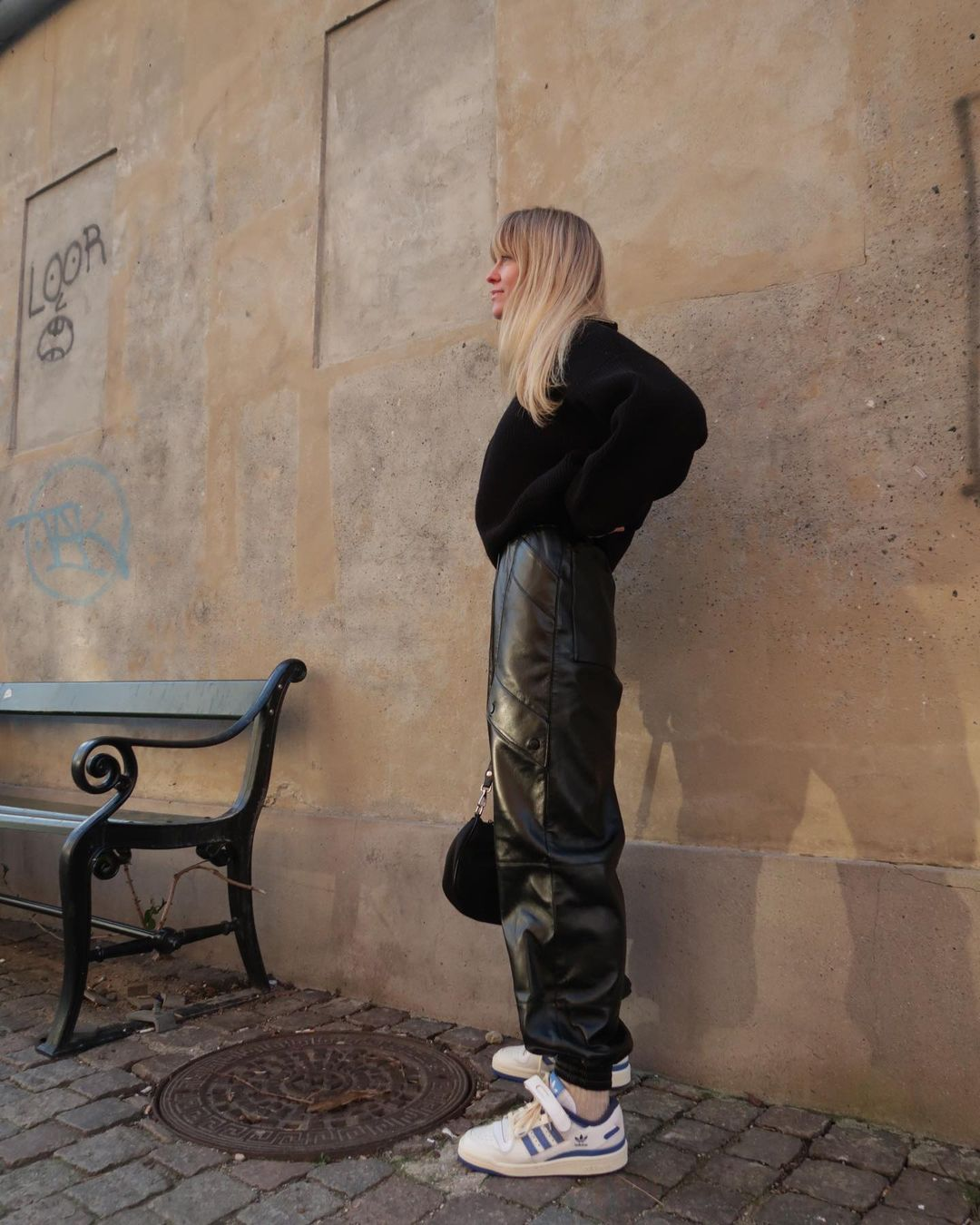 jeanette-madsen-materiel-faux-leather-cargo-trousers-instagram