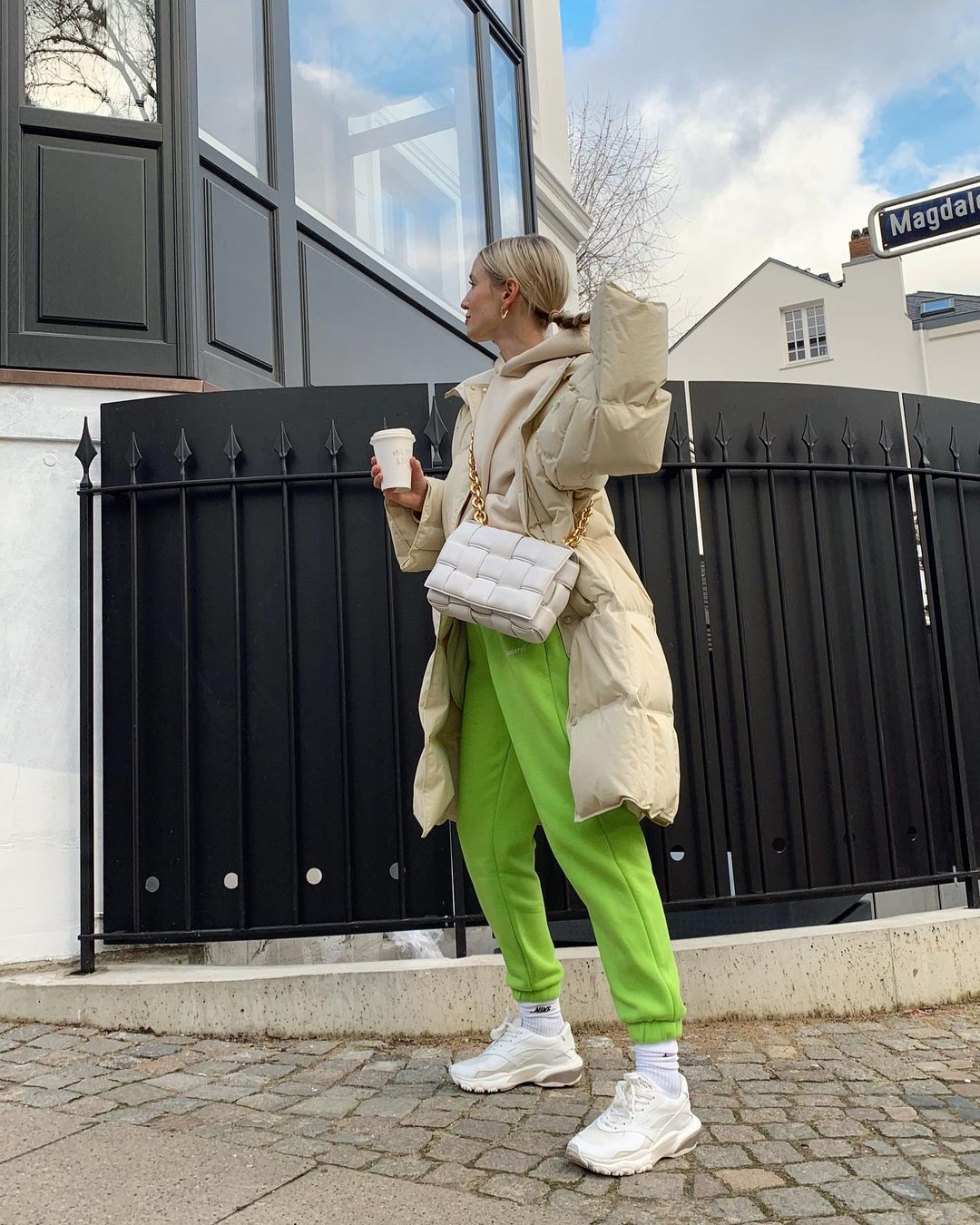 leonie-hanne-lamarel-lime-green-track-pants-instagram