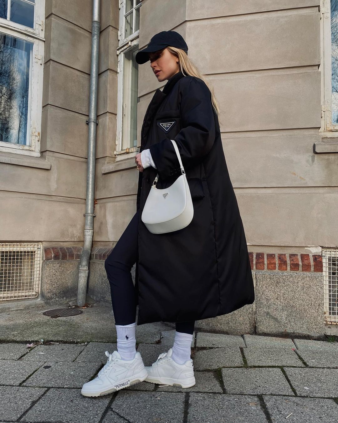 pernille-teisbaek-prada-re-nylon-gabardine-puffer-coat-instagram