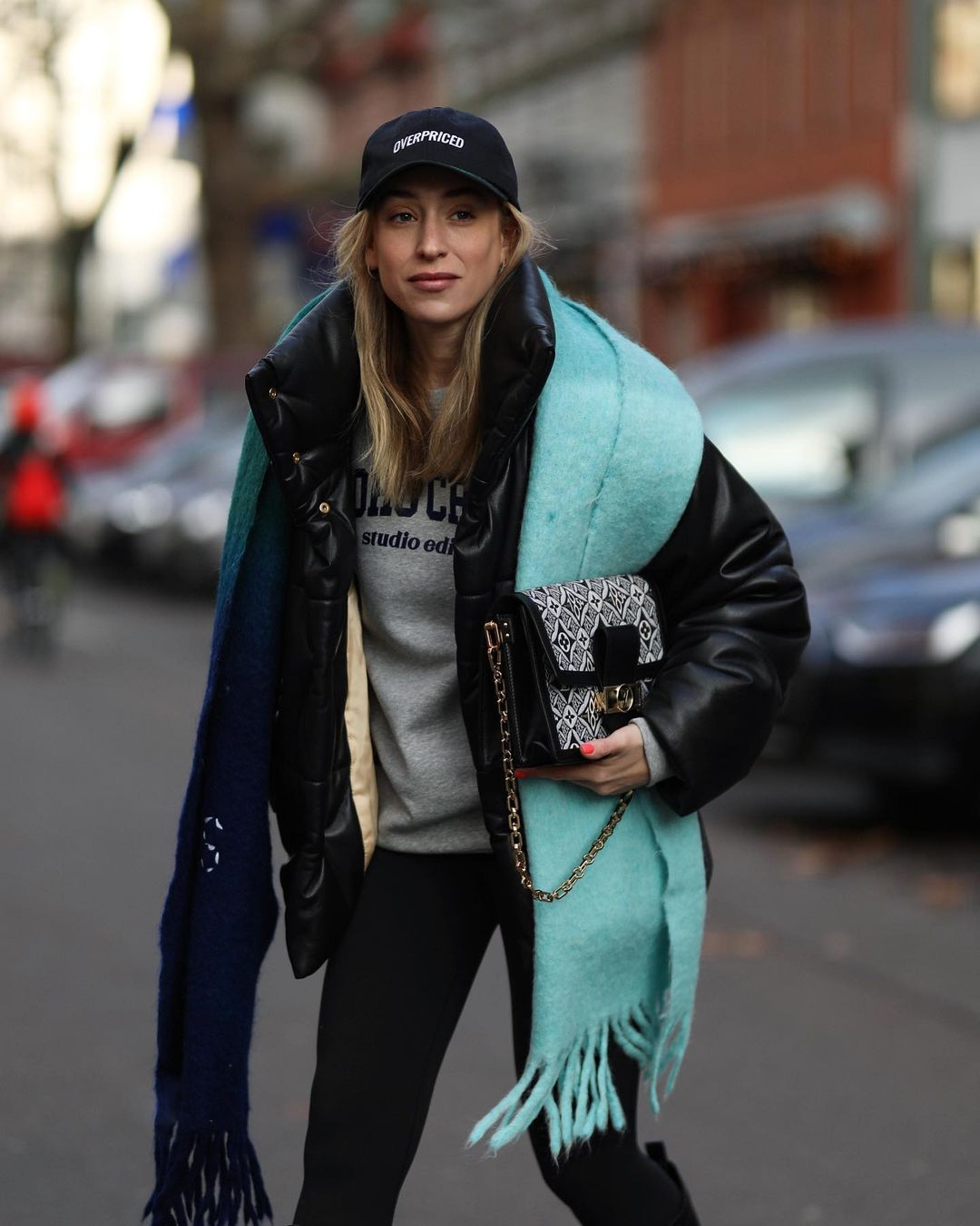 sonia-lyson-acne-studios-turquoise-kelow-dye-fringed-scarf-the-outnet-sale-instagram