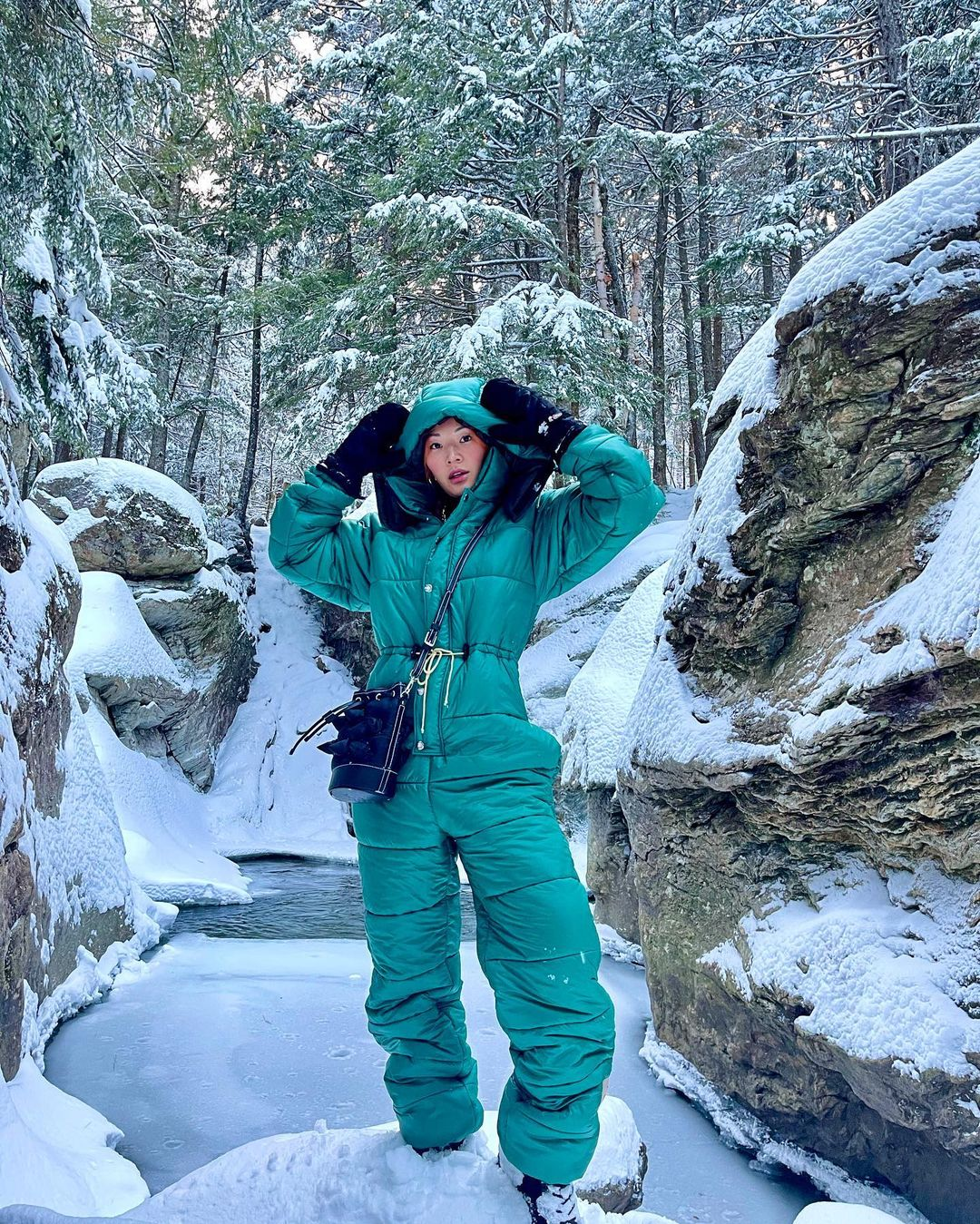 tina-leung-the-north-face-x-gucci-nylon-jumpsuit-instagram