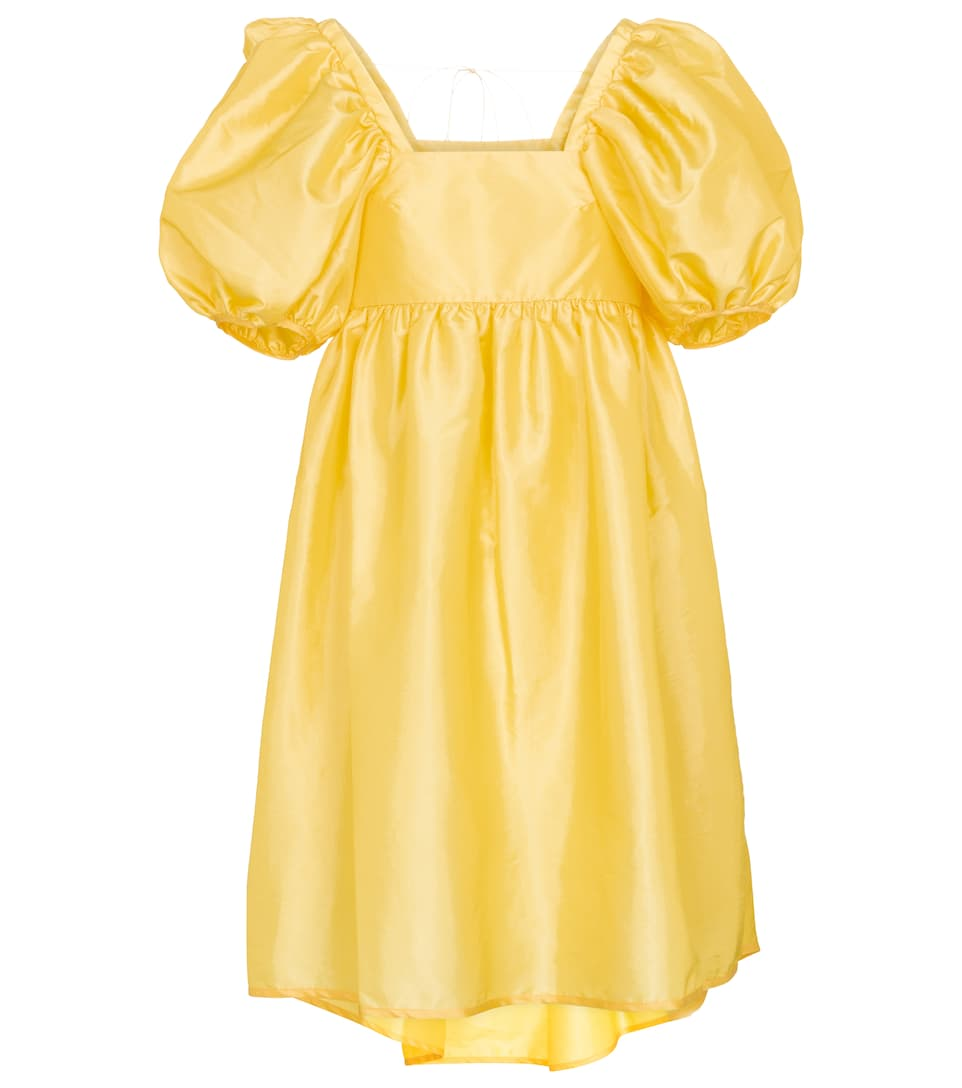 cecilie-bahnsen-tilde-faille-minidress-canary-yellow