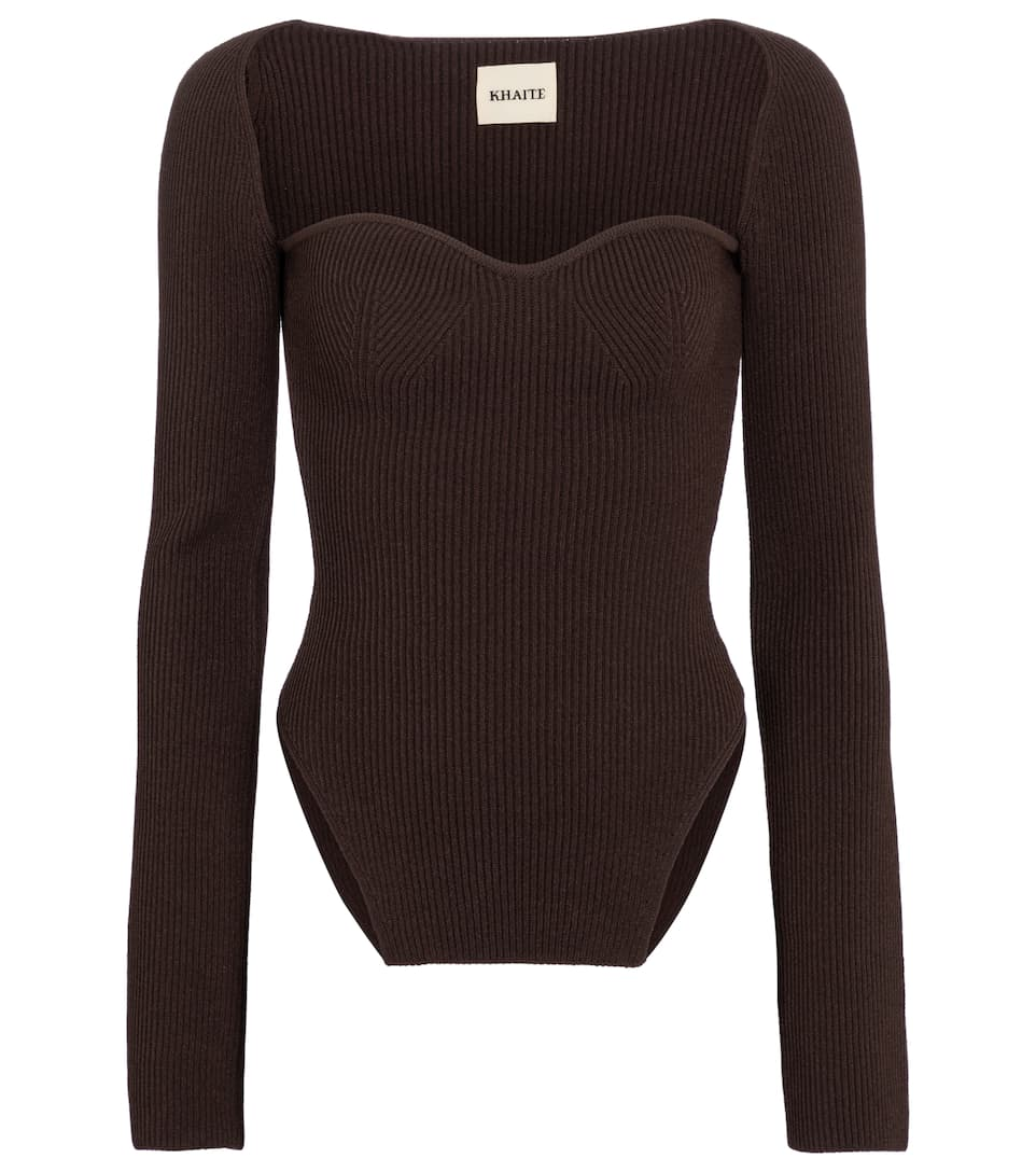 khaite-maddy-ribbed-knit-top-chestnut