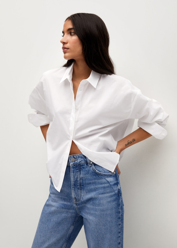 mango-cropped-cotton-shirt-white