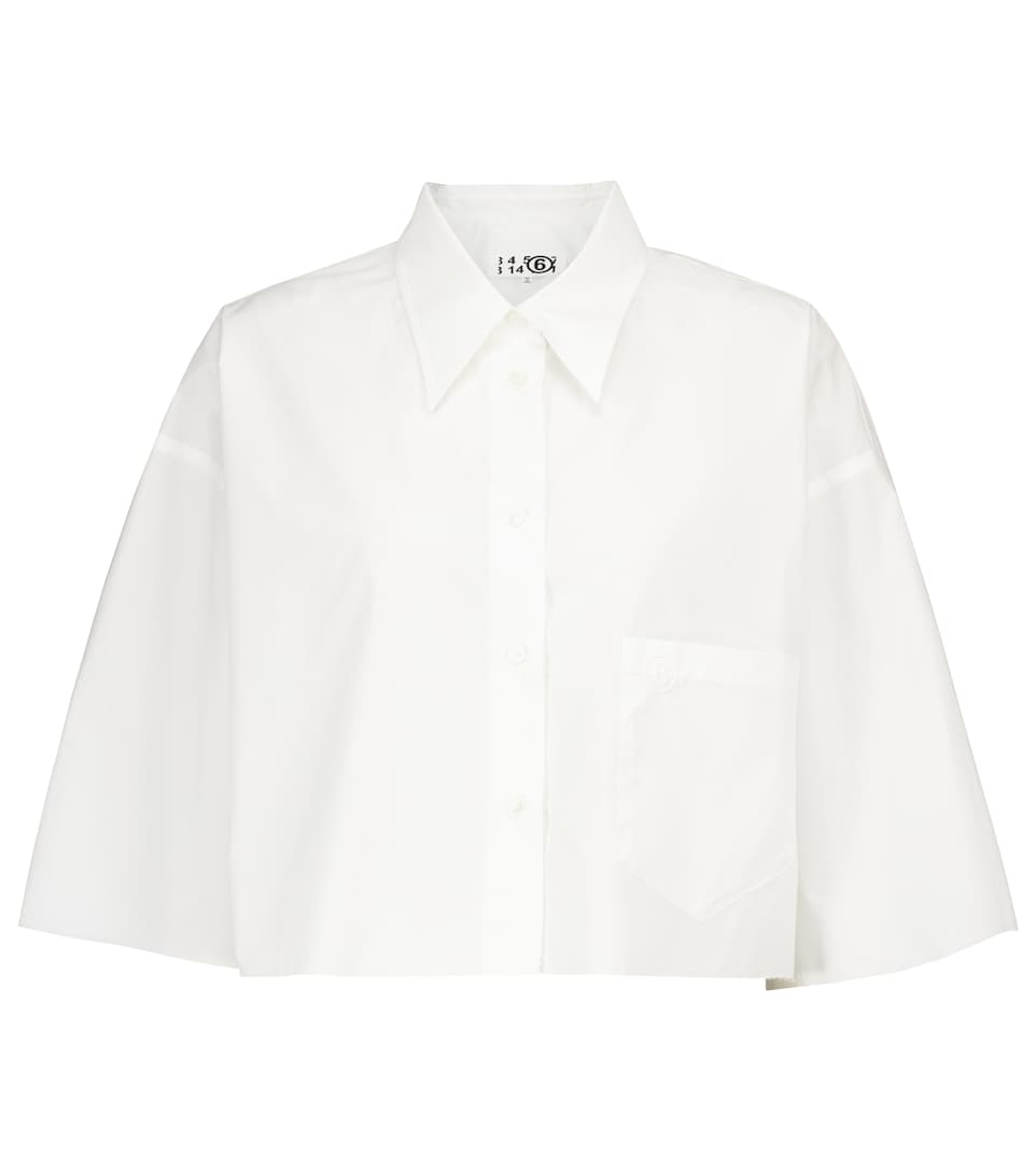 mm6-maison-margiela-cropped-cotton-shirt-white