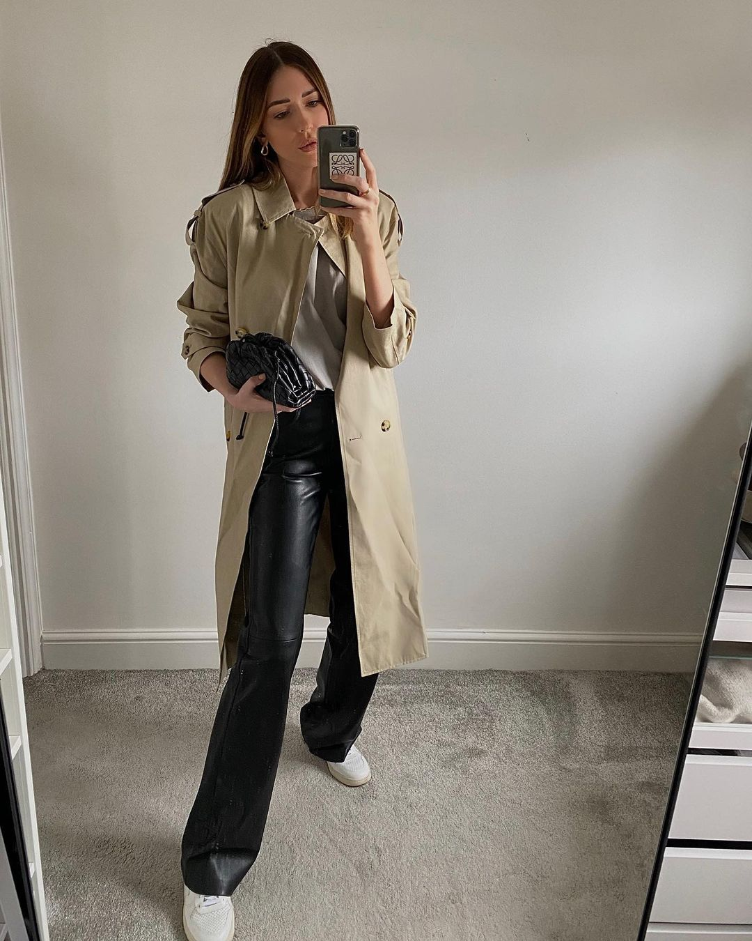 sophie-smith-mango-belt-cotton-blend-trench-instagram