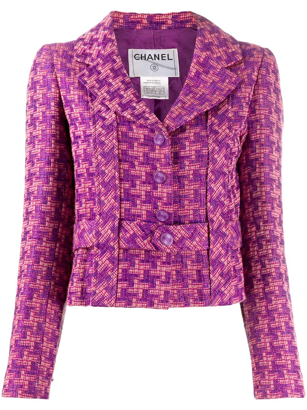 chanel-pre-owned-houndstooth-pattern-belted-jacket