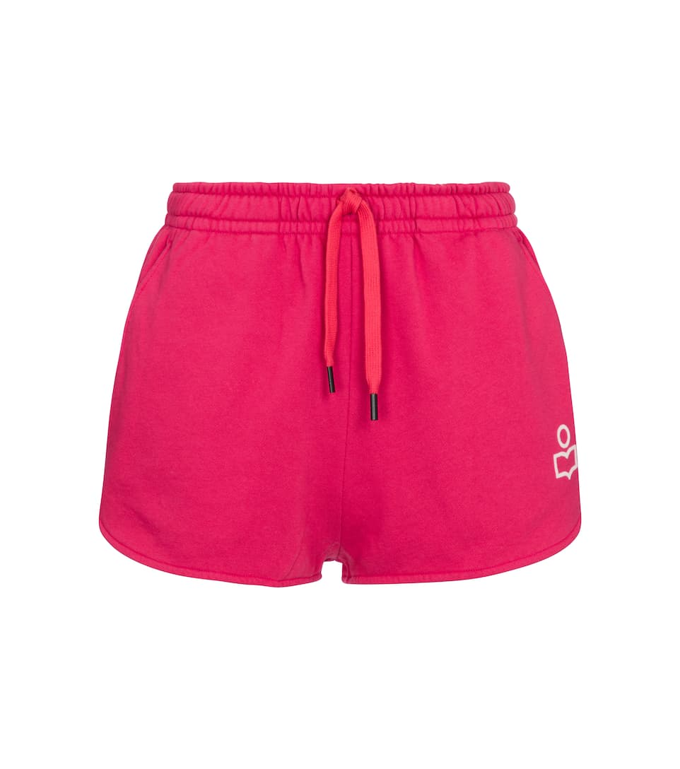 isabel-marant-mifikia-cotton-blend-jersey-shorts-rapsberry