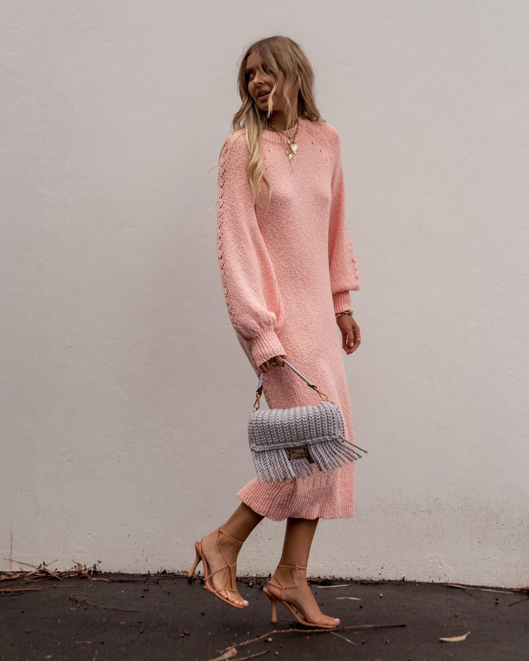 elle-ferguson-steele-aurelle-knit-dress-instagram