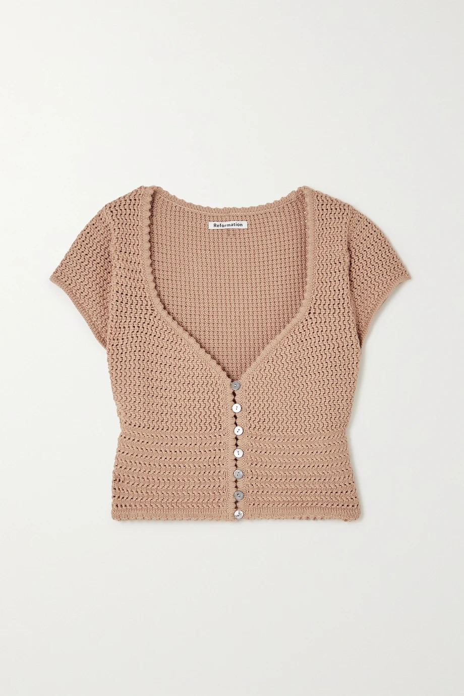 reformation-caterina-open-knit-organic-cotton-top